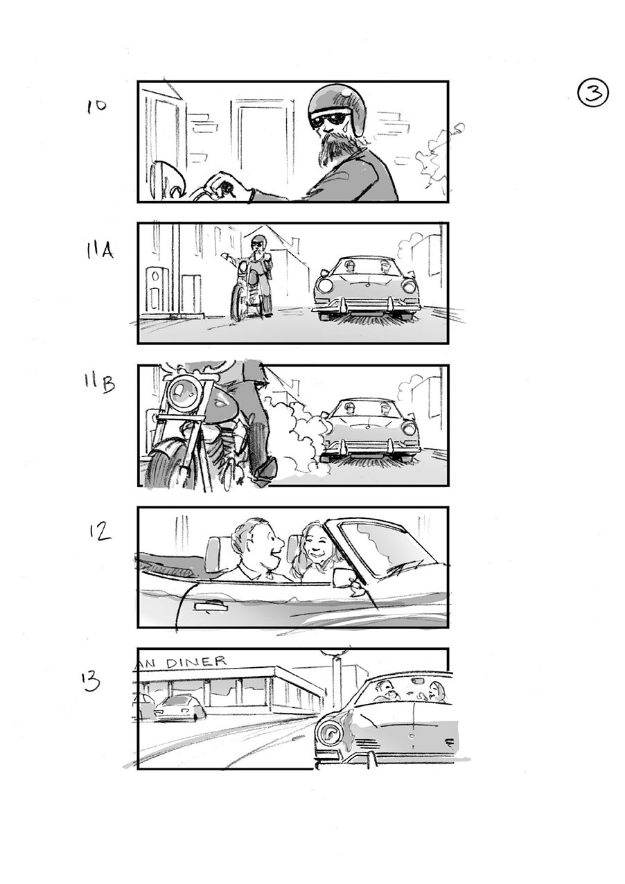 douglas ingram, storyboard art, gumtree commercial