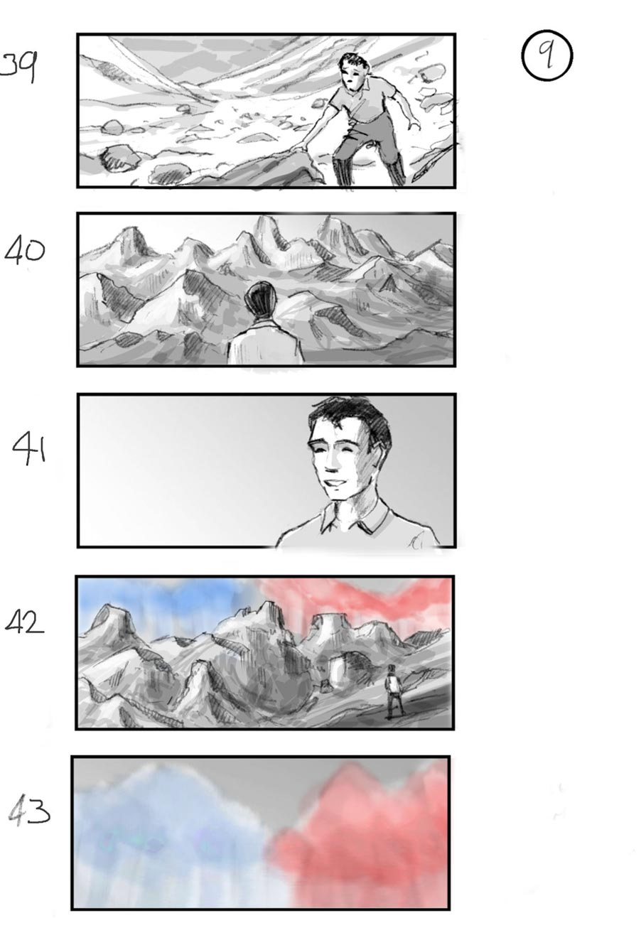 douglas ingram, storyboard art, IG commercial