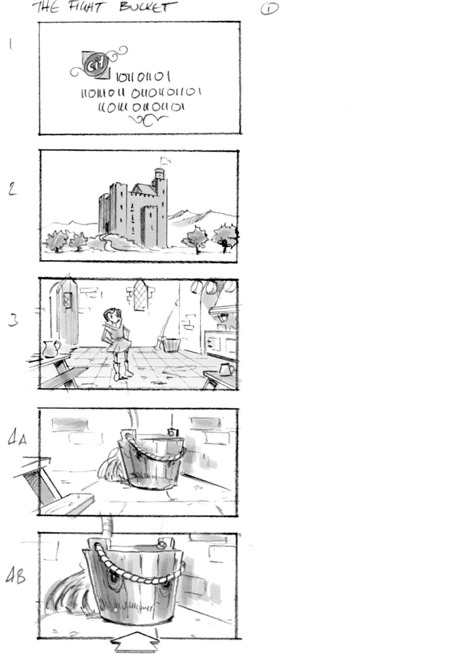 douglas ingram, storyboard art, cif household commercial