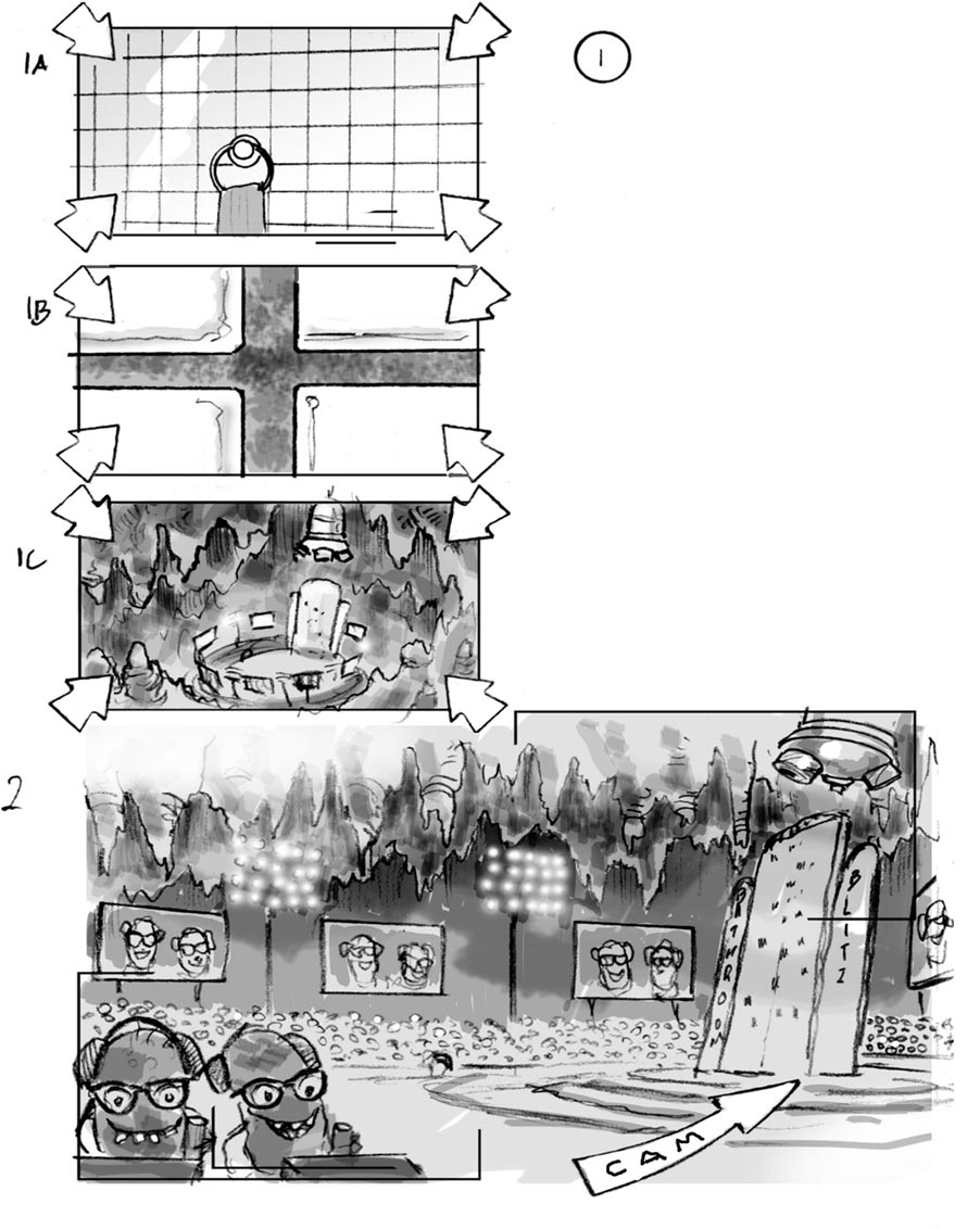 douglas ingram, storyboard art, domestos household commercial