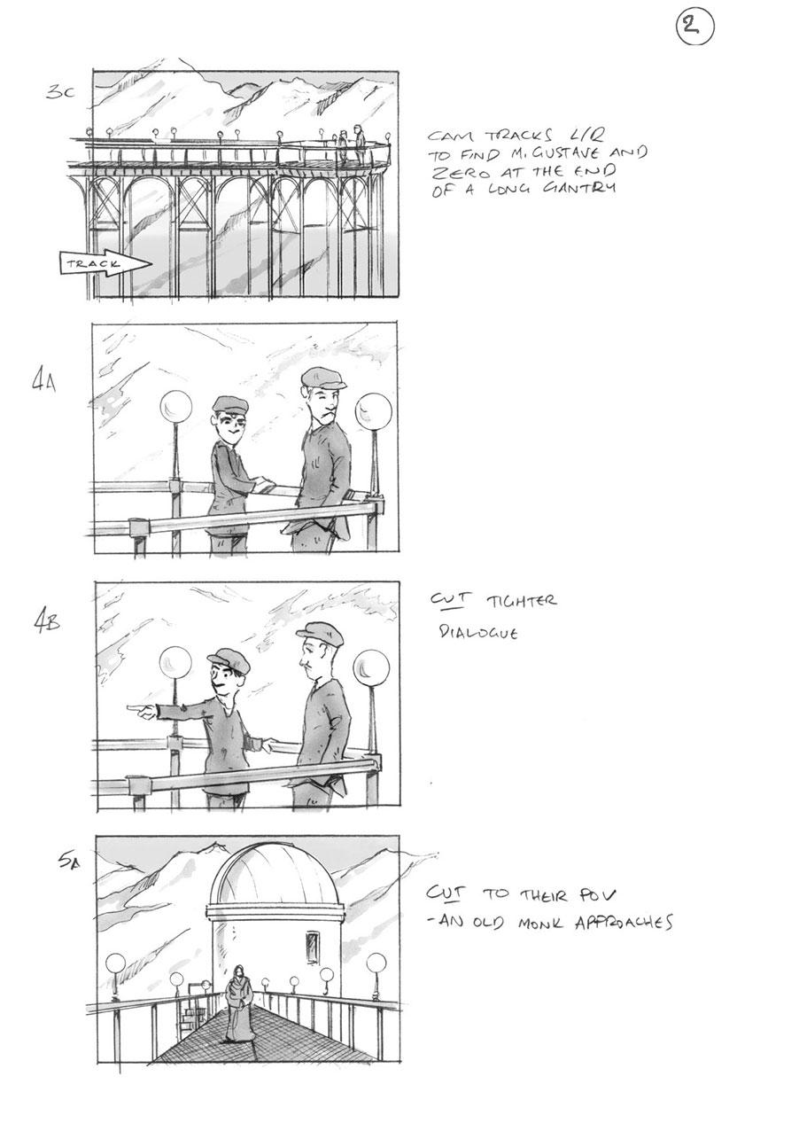 Paddington 2 >> Grand Budapest Hotel - Storyboard Art by Douglas Ingram