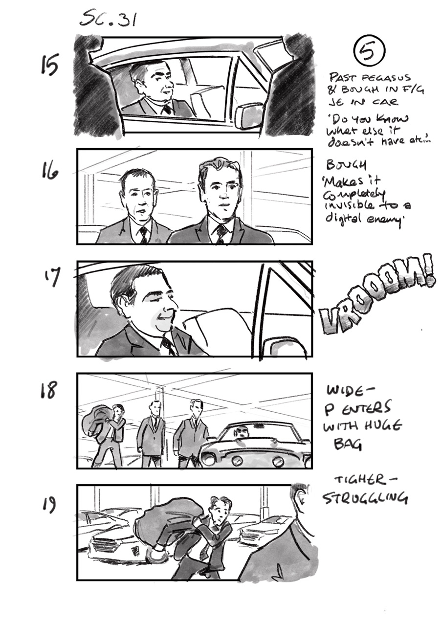 douglas ingram, storyboard art, johnny english 3