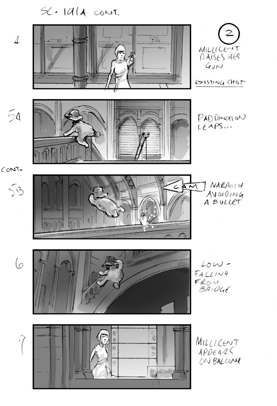 douglas ingram, storyboard art, paddington